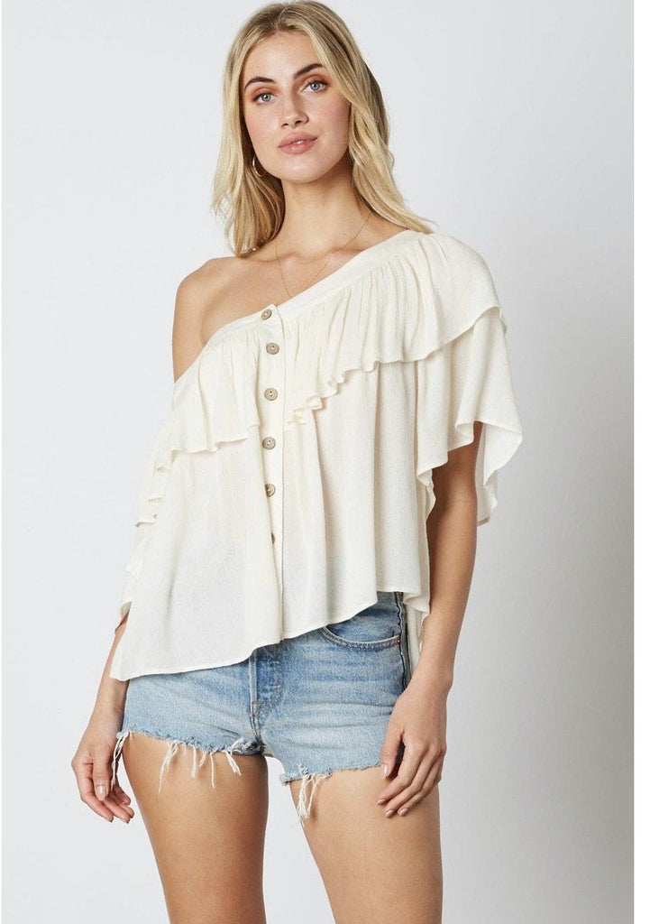 Callie White Top Final sale Cotton Candy