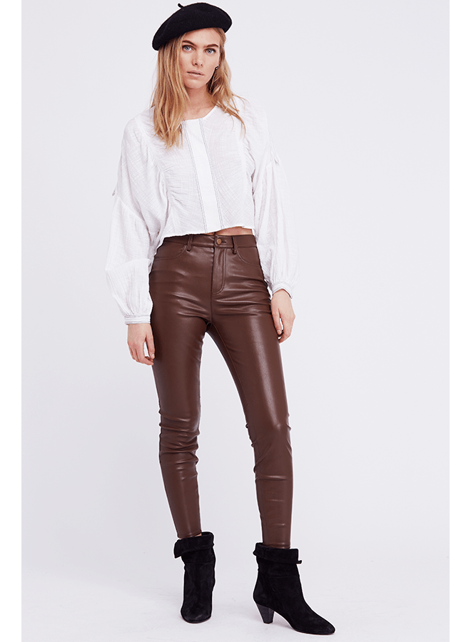 Free People Vegan Brown Pants