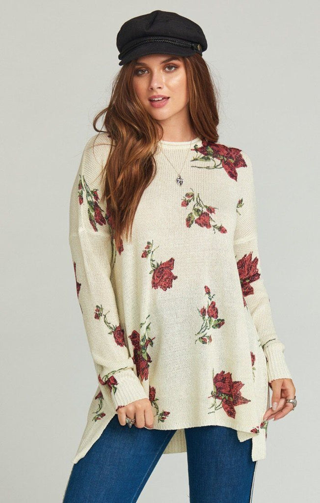 Show Me Your Mumu Sweater- Hannah's Rose Shimmer Knit