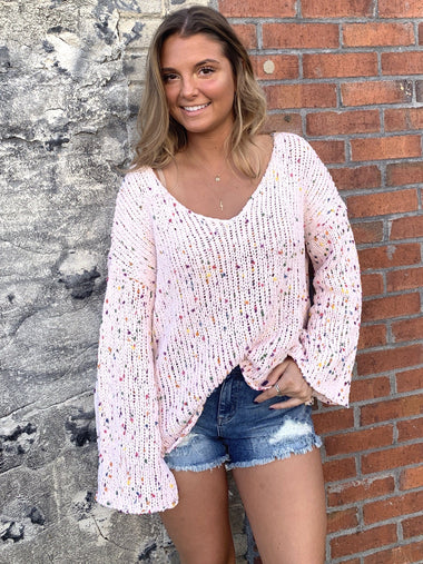 Bianca Pink Sweater Sweaters Peach Love
