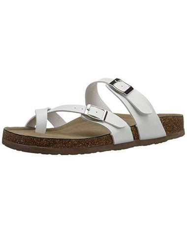 Madden Girl Women's Bryceee White Sandals Shoes Steve Madden 6.5 White