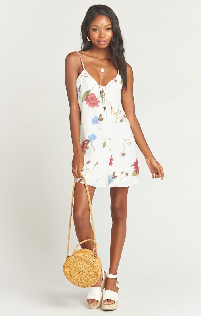 Show Me Your Mumu Rebel Romper Florence Floral Silky Dots