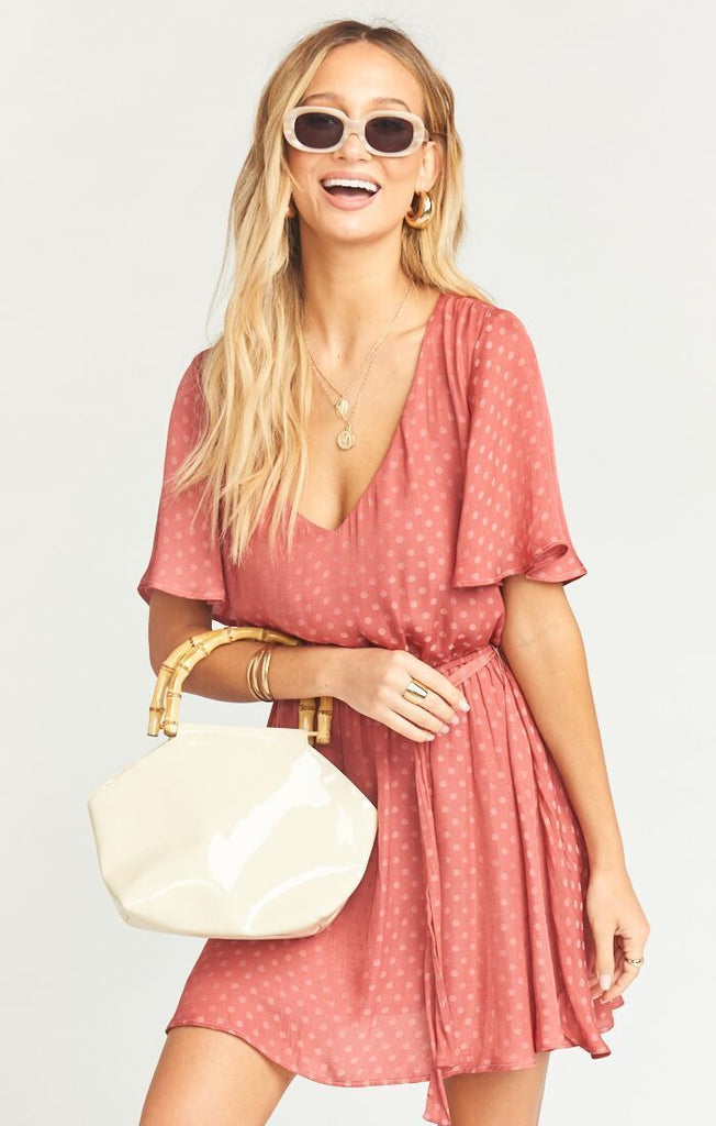 Show Me Your Mumu Anastasia Dress Sangria Silky Dots