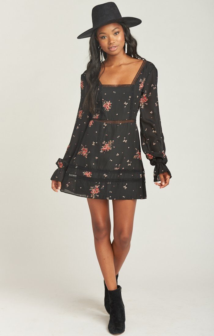 Mumu Helen Dancing Floral Dress