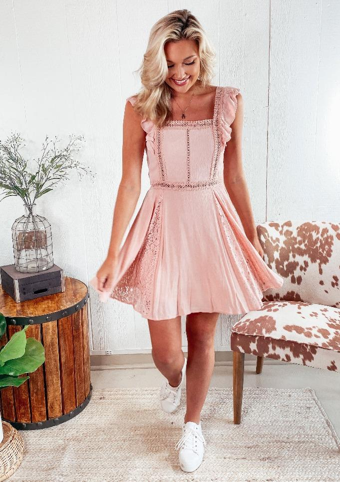 Remi Ruffle Pink Tank Dress Dresses Love richie