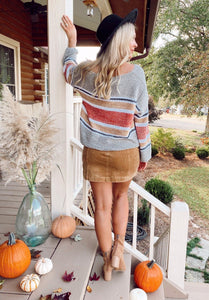 Harvest Rust Stripe Sweater Process EE:some