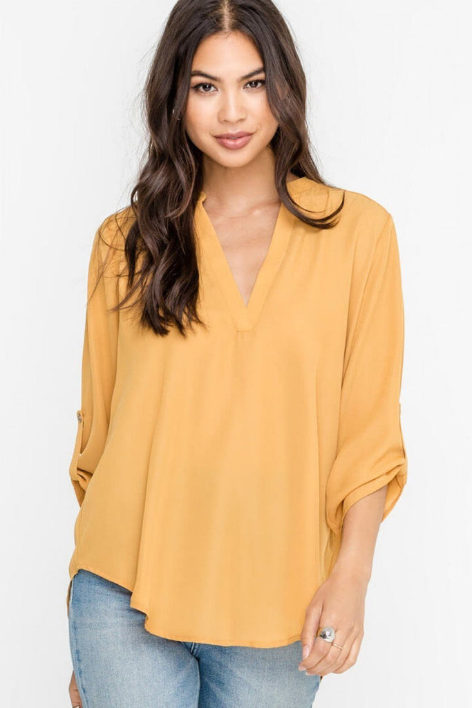 Serious About It Mustard Top