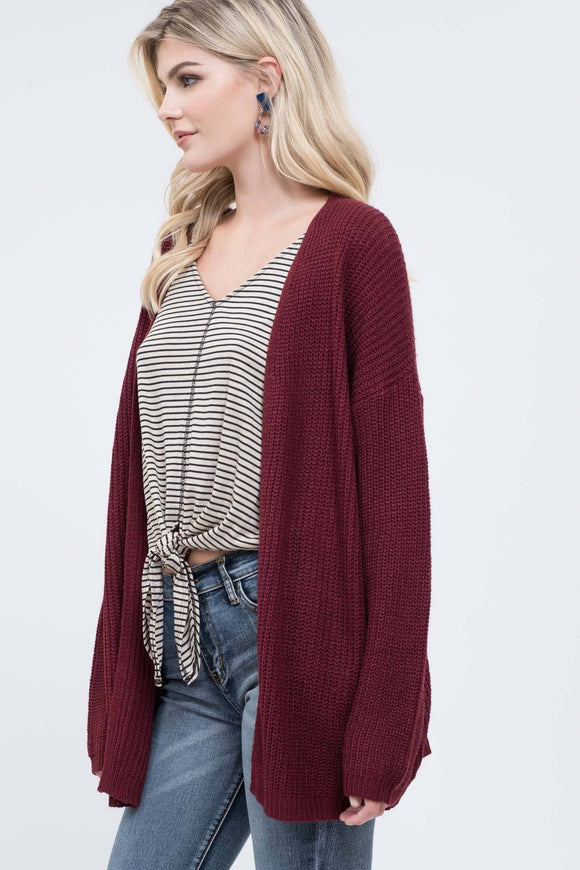 Just Warm Enough Burgundy Sweater