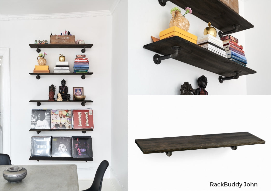 Living-room decoration - shelves in an industrial design from RackBuddy