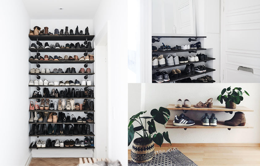 Perfect storage space for your hallway with Rackbuddy shelves