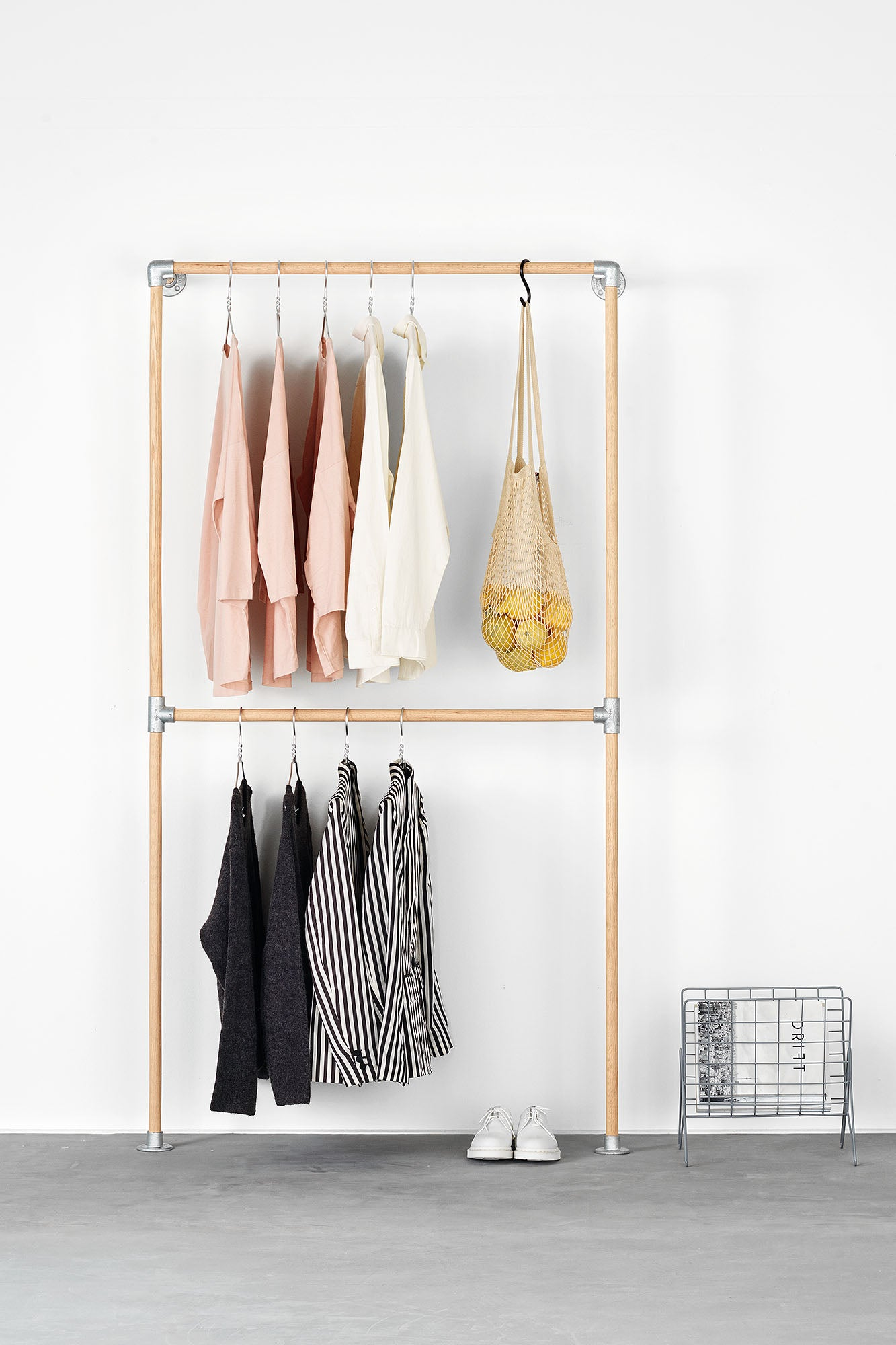 RackBuddy Line wooden clothes rack - simple & elegant