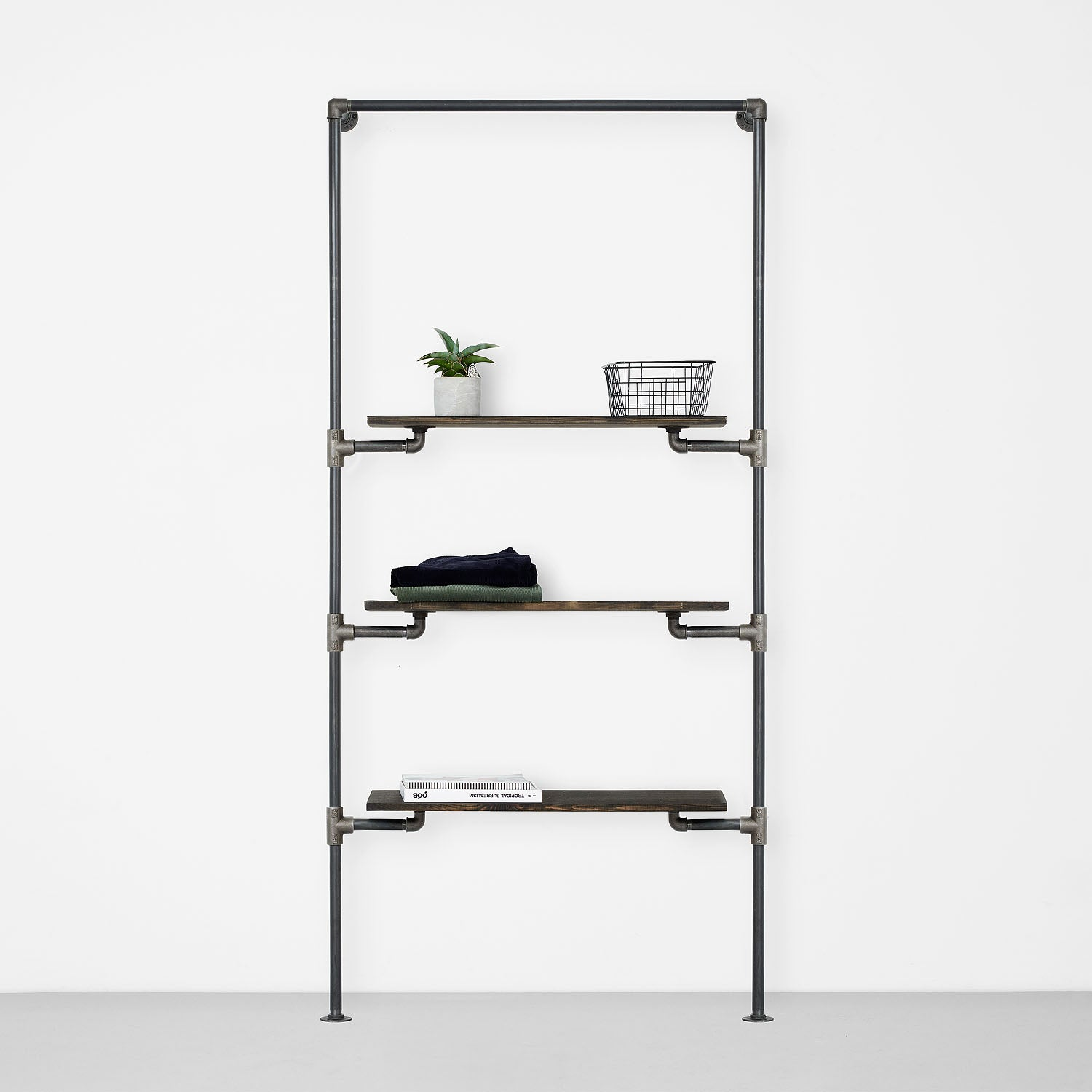 Reol med 3 hylder fra the walk-in collection rackbuddy