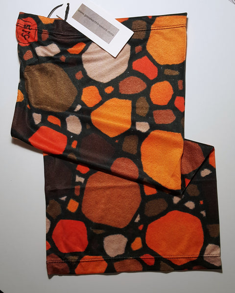 Brown and Orange neck gaiters