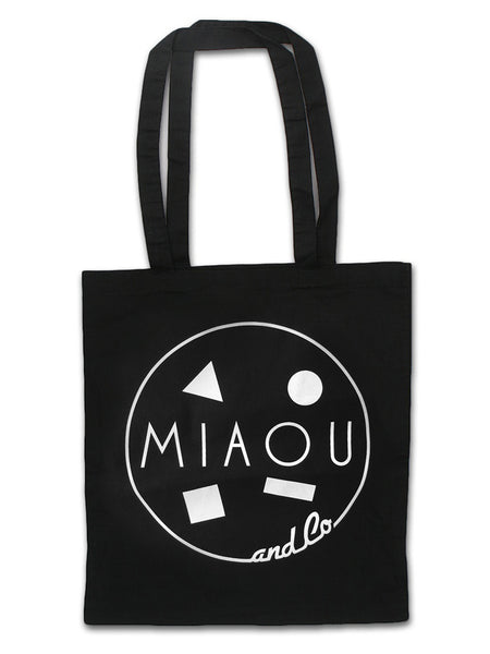 80s Surf Logo / 100% Cotton Canvas Tote / White Light on Black