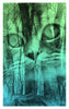 Forest Cat Archival Giclee Print / Moonrise Blue and Green