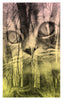 Forest Cat Archival Giclee Print / Sunrise Pink and Yellow