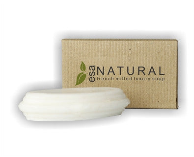 Hotel Soap ESA Natural Luxury 34g (100 per case) .32¢ each or less! - Canadian Hotel Supplies