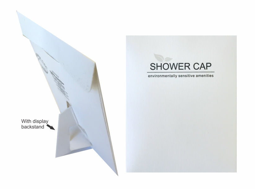 Hotel Shower cap | White (100 per case) 23¢ each or less! - Canadian Hotel Supplies