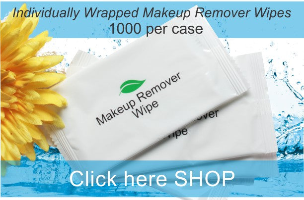 High Volume Hotel Make Up Remover Wipes (1000 per case) FREE SHIPPING!!!! .21 each - Canadian Hotel Supplies