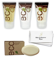 Hotel Guest Amenities Low Volume ECO Sciences (50 sets) - Canadian Hotel Supplies