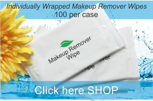 Hotel Make Up Remover Wipes (100 per case) HOT NEW PRICING! .24¢ each or less!