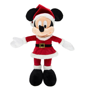 Disney Parks Christmas Mickey in Santa Dress Plush New with Tags