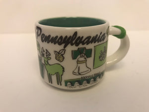 Starbucks Coffee Been There Pennsylvania Ceramic Mug Ornament New with Box