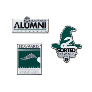 Universal Studios Harry Potter Slytherin Alumni Pin Set New with Card