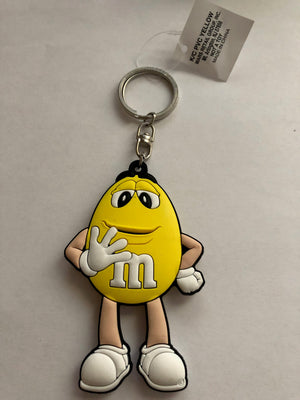 M&M's World Yellow Character PVC Keychain New with Tag
