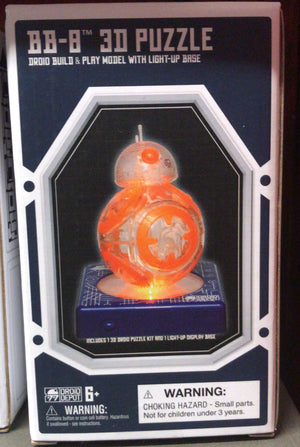 Disney Parks Star Wars BB-8 3D Puzzle Droid Factory Light Up Base Galaxy Edge