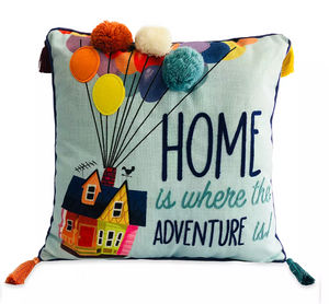 Disney Up Home is where the Adventure is Throw Pillow New with Tag