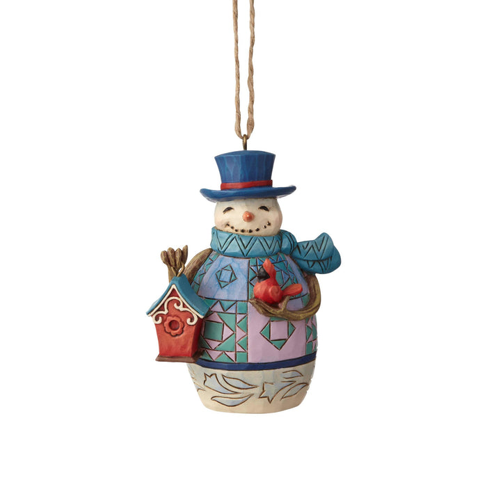 Jim Shore Mini Snowman with Birdhouse Christmas Ornament New with Box