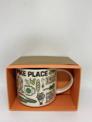 Starbucks Coffee Been There Pike Place Seattle Washington Ceramic Coffee Mug New