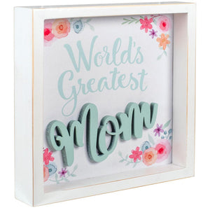 Hallmark World's Greatest Mom Framed Quote Sign New