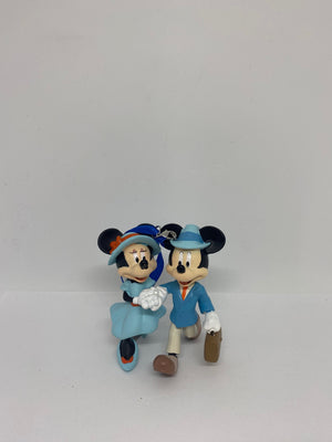 Disney Parks Riviera Resort Mickey and Minnie Christmas Ornament New with Tags
