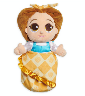 Disney Parks Beauty and the Beast Baby Belle in Blanket Pouch Plush New with Tag