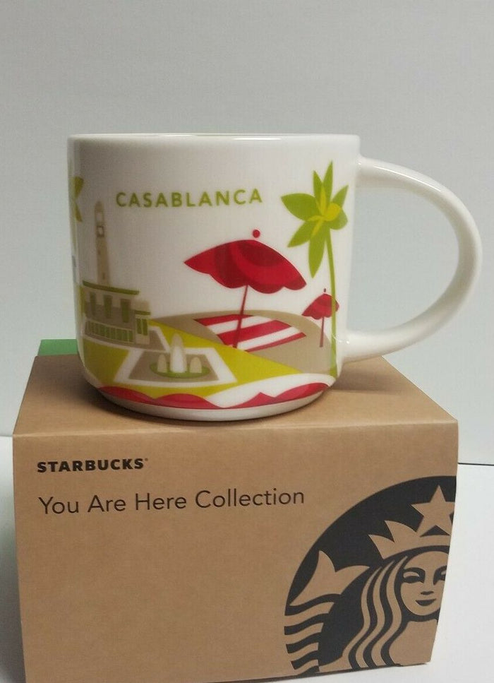 Starbucks You Are Here Collection Casablanca Ceramic Coffee Mug New with Box