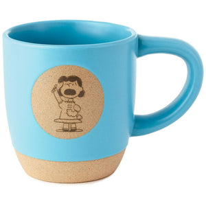 Hallmark Peanuts Lucy The Boss 12 oz Coffee Ceramic Mug New