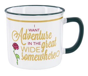 Disney Parks Belle I Want Adventure in the Great Wide Somewhere Coffee Mug New