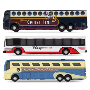 Disney Parks Bus Die Cast Vehicle Set 3 Pack New with Box