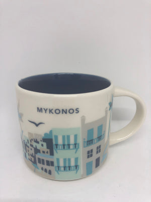 Starbucks You Are Here Greece Mykonos Ceramic Coffee Mug New with Box