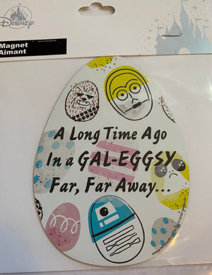 Disney Star Wars a Long Time Ago in a Gal-eggsy Far Far Away Easter Magnet New