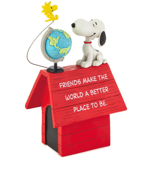 Hallmark Peanuts Snoopy and Woodstock Friends Make the World Better Figurine New