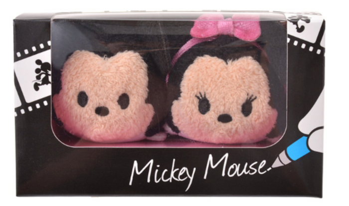 Disney Store 25th Mickey Minnie Mouse Tsum Tsum Plush Japan Set Mini 3 1/2''