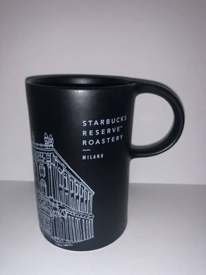 Starbucks Reserve Roastery Milan Milano Illustration Black Coffee Mug New
