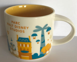 Starbucks You Are Here Disneyland Paris Parc Walt Disney Studios Coffee Mug New
