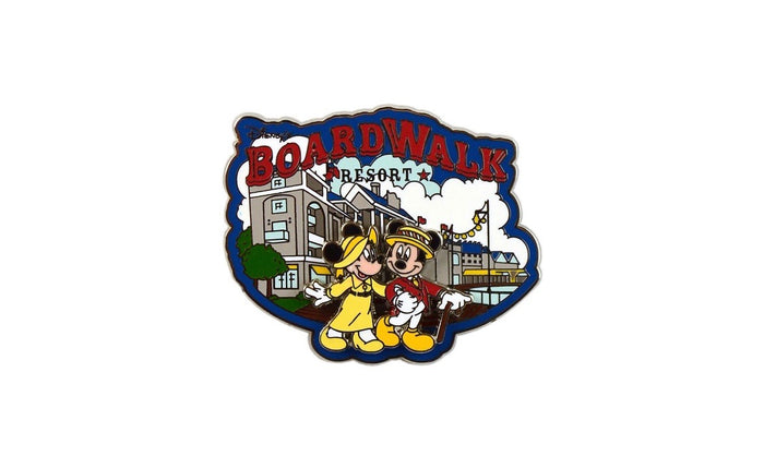 Disney Parks Mickey and Minnie Boardwalk Resort Metal Pin New with Card