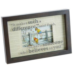 Hallmark Disney Someone Who Believes in You Winnie the Pooh Framed Print New