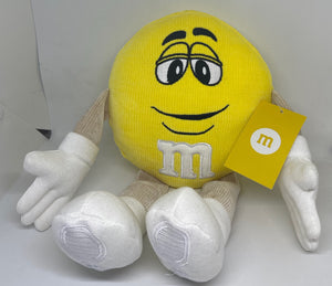 M&M's World Yellow Character Big Face Plush New with Tags