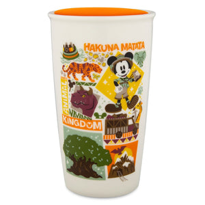 Disney Starbucks Hakuna Matata Animal Kingdom Coffee Tumbler Travel Mug New